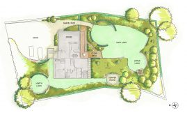 Revised design for a 1/2 garden in Chalfont St Peter, Buckinghamshire