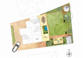 Design for a garden in Gerrards Cross, Buckinghamshire